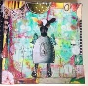 Art Journal-side laget av Bente-Heidi, Norge.