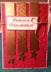 Julekort laget av Janni, Danmark