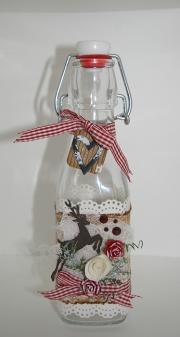 Flaske dekorert av Marit, Norge