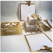 Bryllupskort laget av Anethe, Sverige