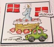 Kort laget av Lene, Danmark