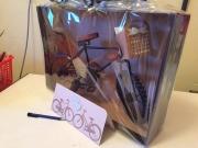 Kort og sykkel laget av Birgit, Danmark