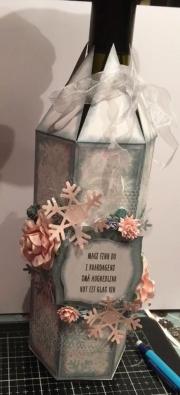 Flaske dekorert av Hildegunn, Norge