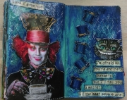 Art journal-side laget av Maria, Danmark