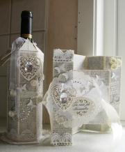 Kort og flaskeskjuler laget av Marit, Norge