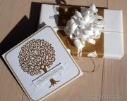 Kort og gave laget av Pia, Danmark