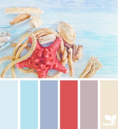 Design Seeds colour palette - SeaHues