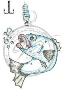 Vilda Stamps - Fisk