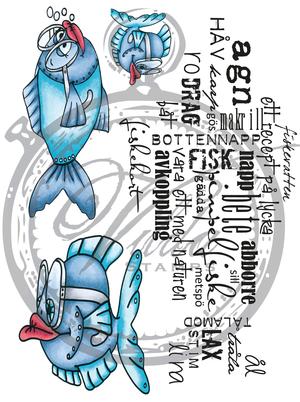 Vilda Stamps - Fiskekit