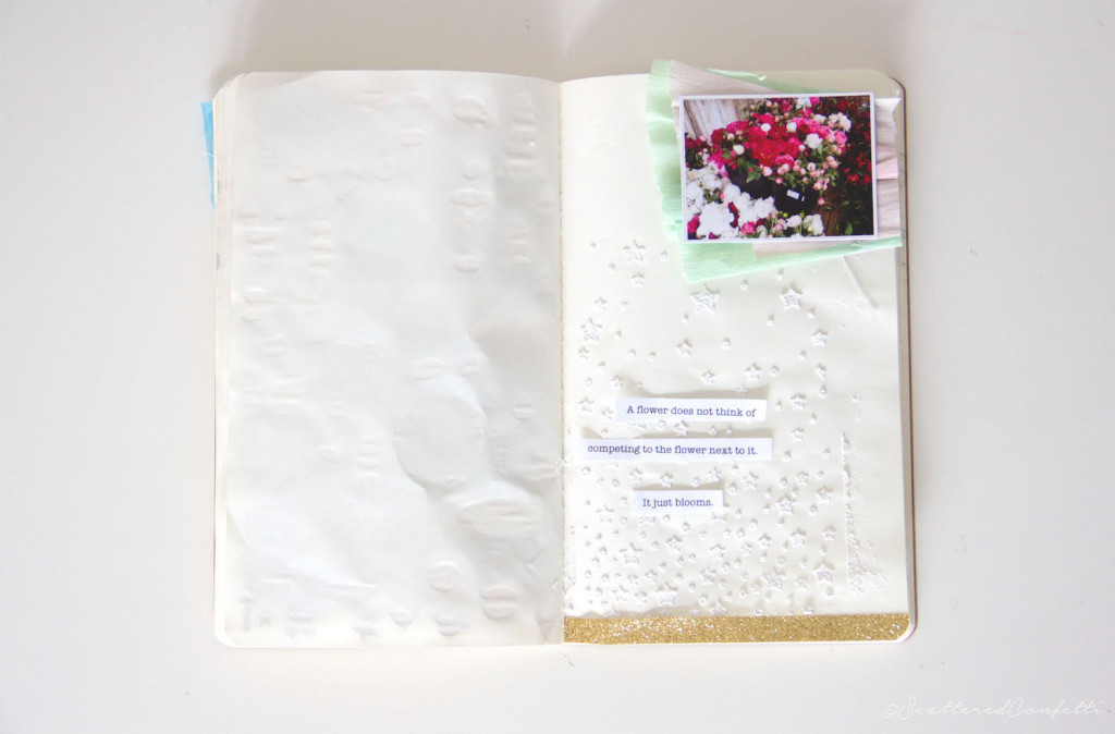 Get Messy 8-1 Scattered Confetti art journaling