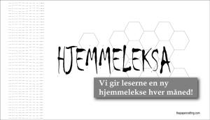 """""""HJEMMELEKSA"""""""