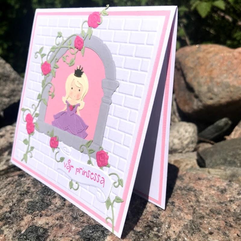 Handgjort kort til en prinsessa
